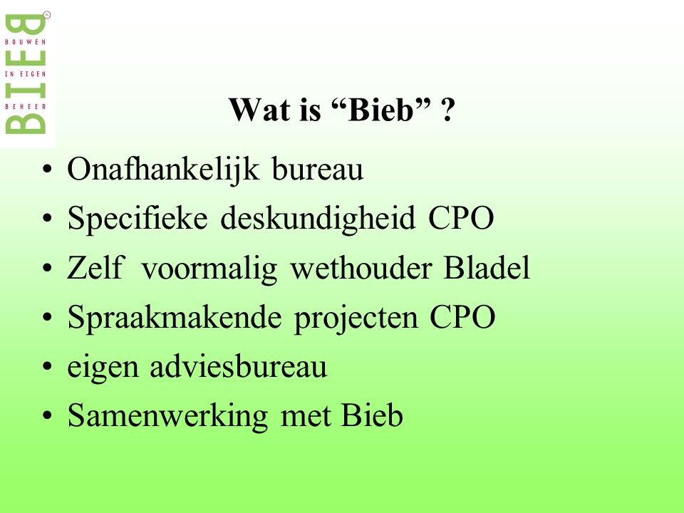 Wat is Bieb .