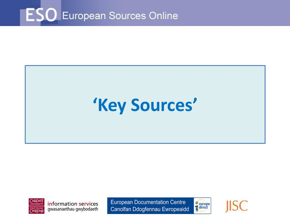 'Key Sources'