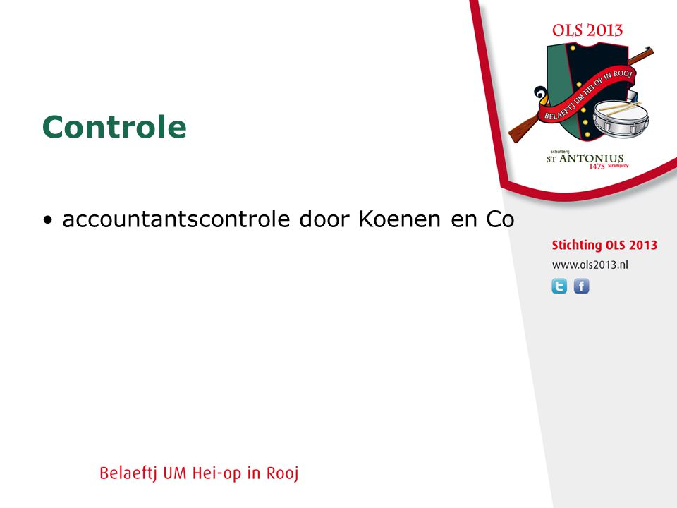 Controle • accountantscontrole door Koenen en Co