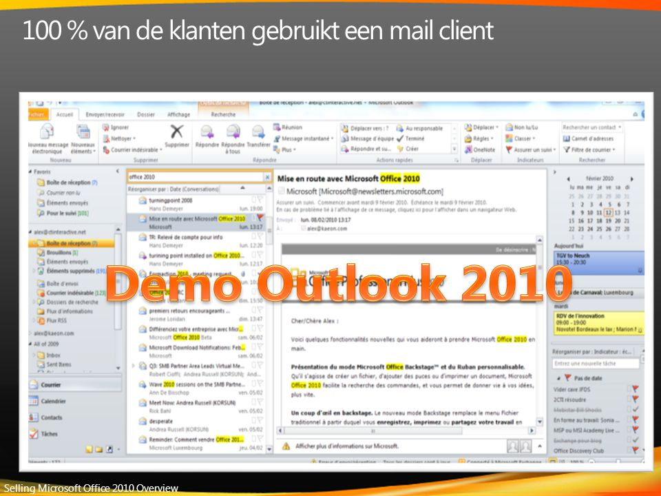 Selling Microsoft Office 2010 Overview