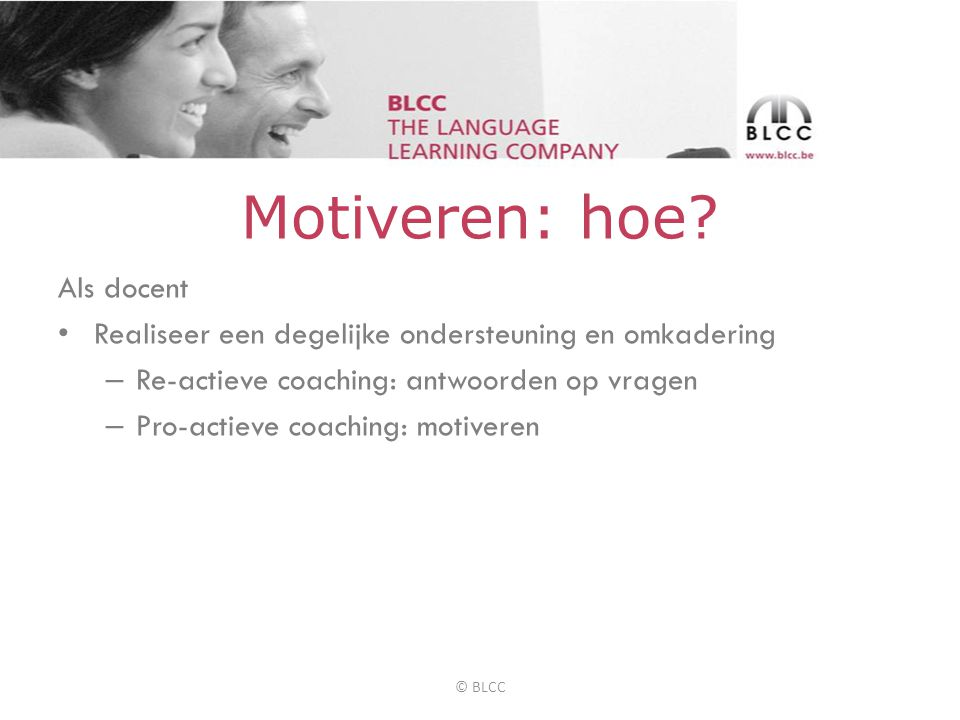 Motiveren: hoe.