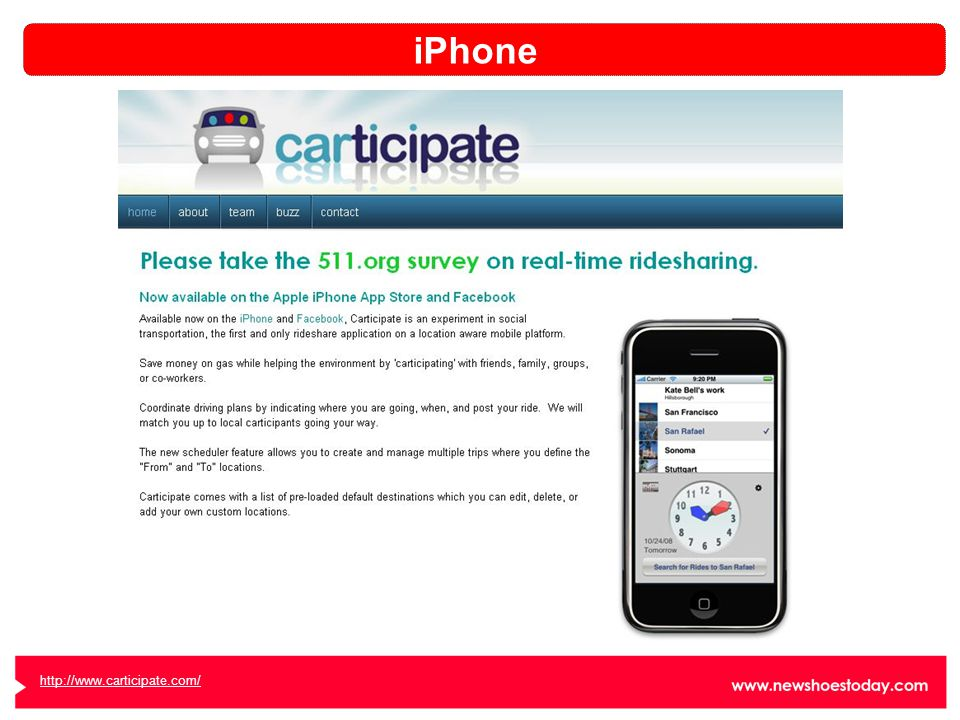 http://www.carticipate.com/ iPhone