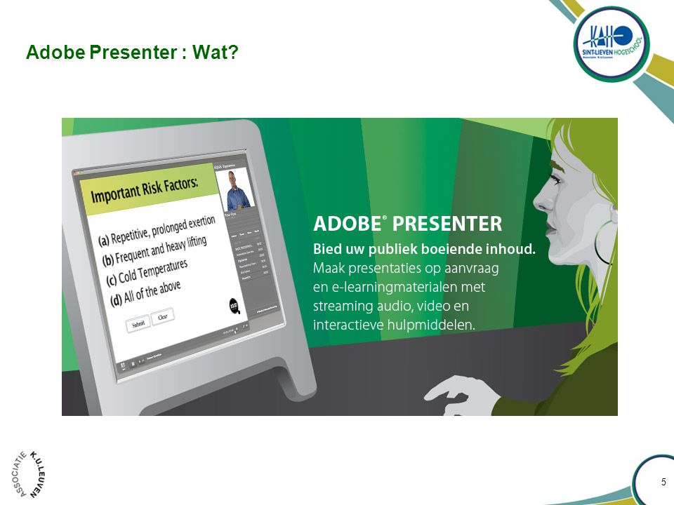 Adobe Presenter : Wat 5