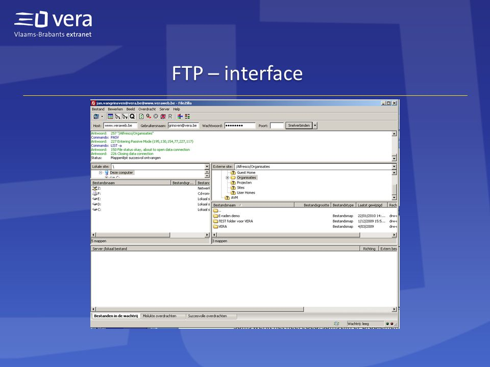 FTP – interface