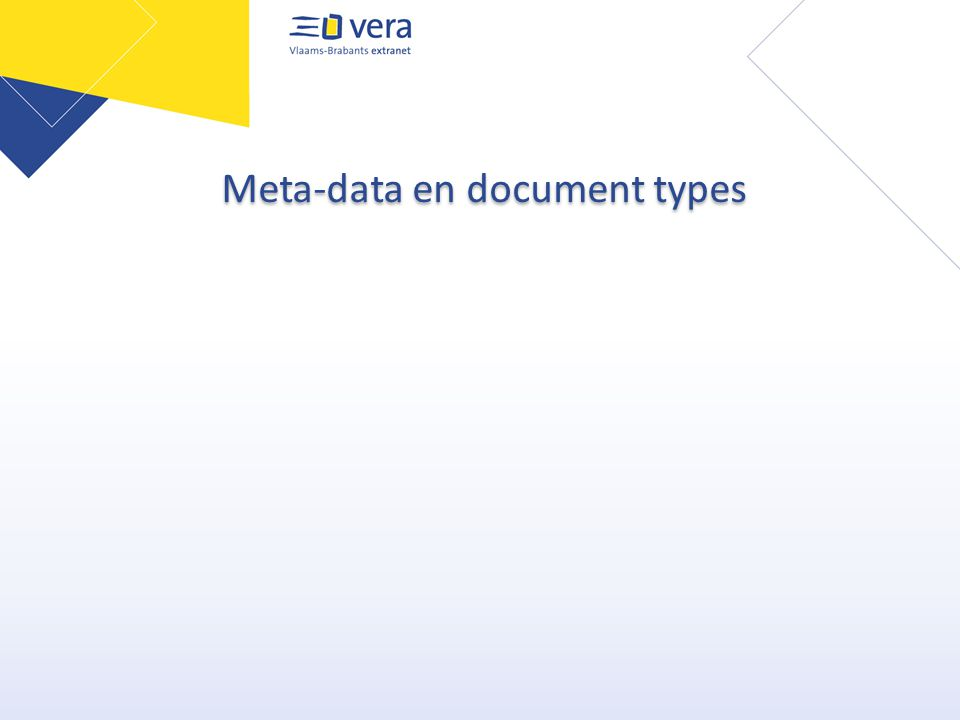 Meta-data en document types