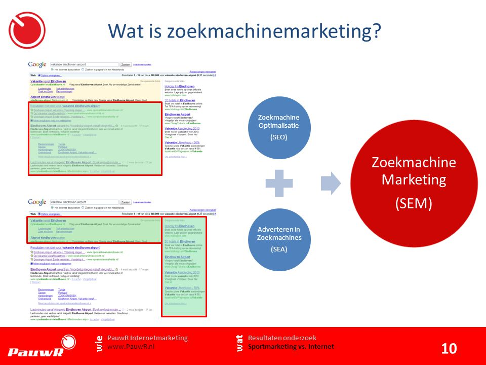Wat is zoekmachinemarketing Resultaten onderzoek Sportmarketing vs.