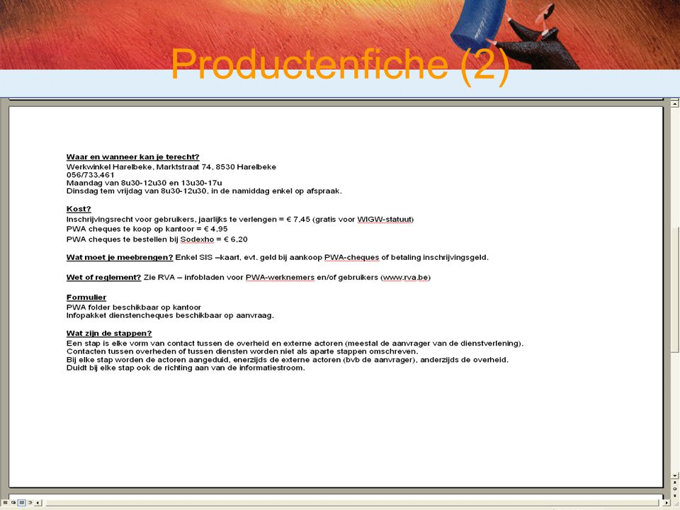Productenfiche (2)