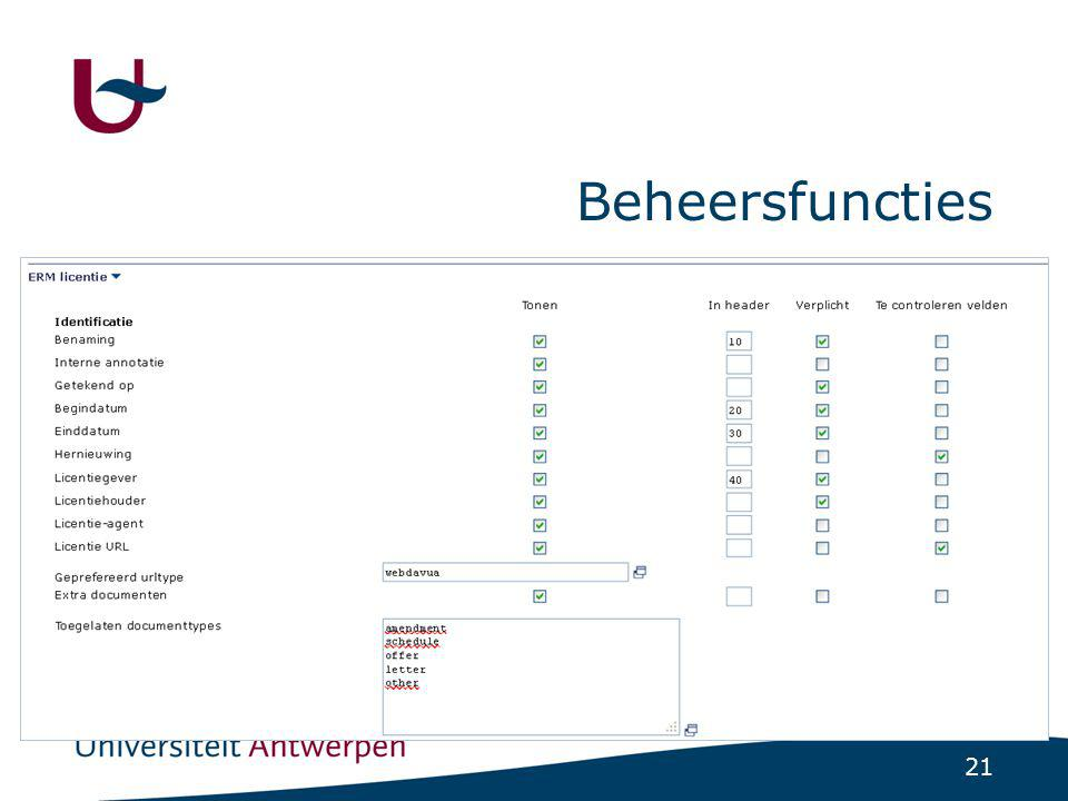 21 Beheersfuncties