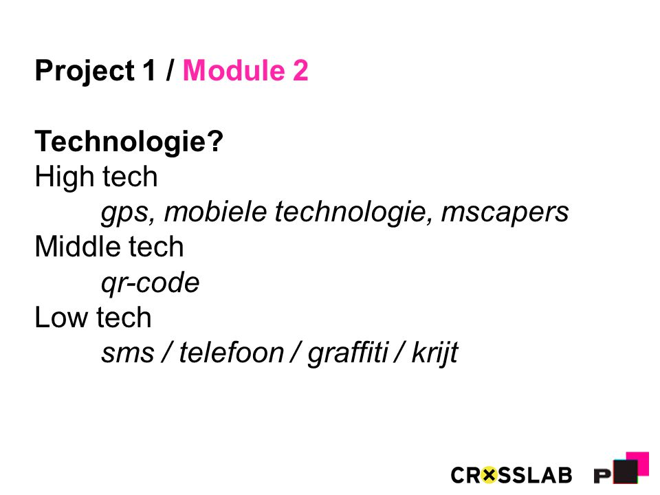 Project 1 / Module 2 Technologie.