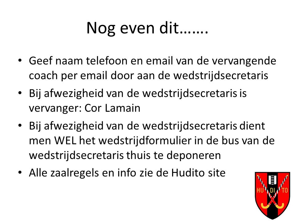Nog even dit…….