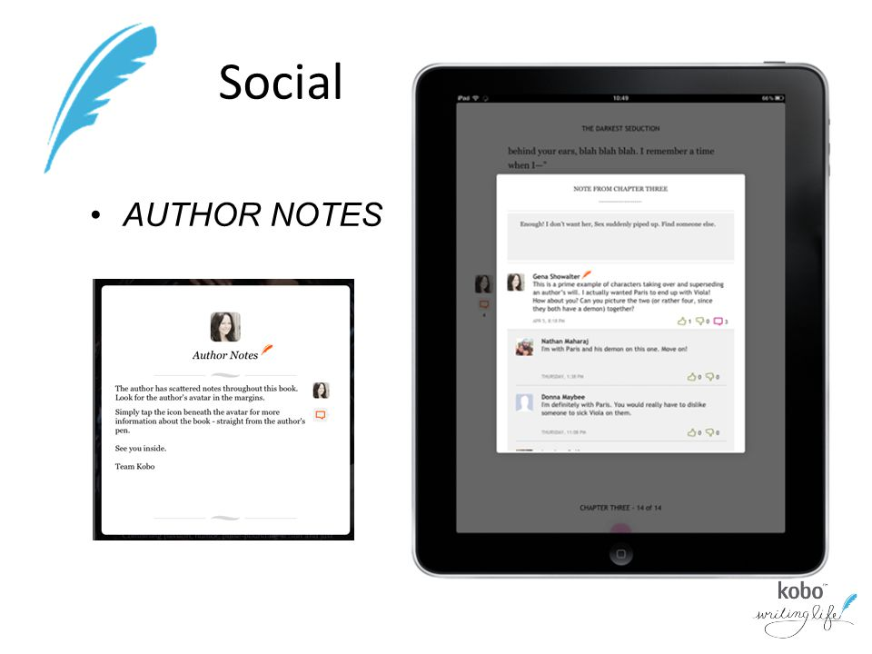 Social AUTHOR NOTES
