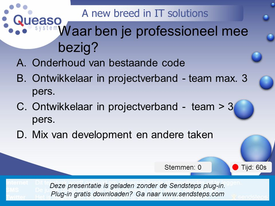 How to avoid being a code monkey . Waar ben je professioneel mee bezig.