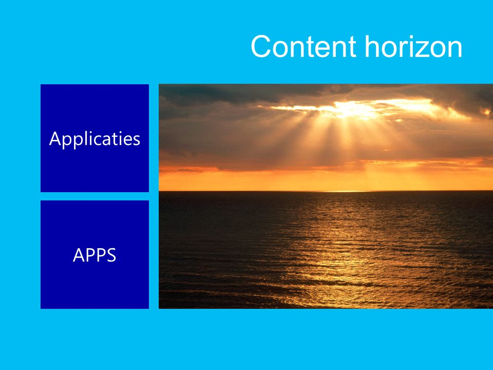 Content horizon Applicaties APPS