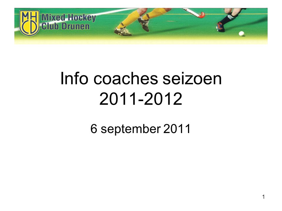1 Info coaches seizoen september 2011