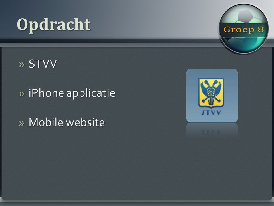»STVV »iPhone applicatie »Mobile website