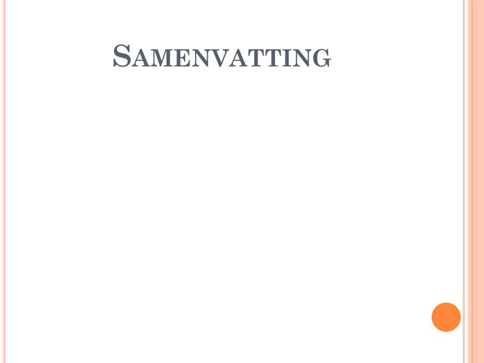 S AMENVATTING