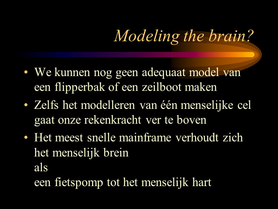 Modeling the brain.