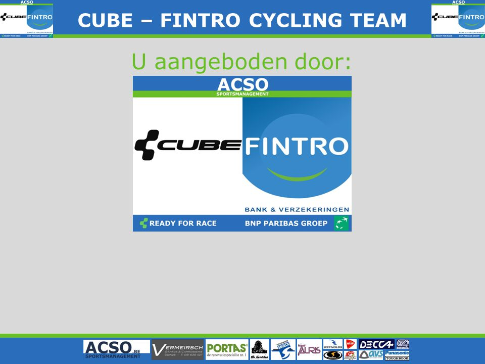 CUBE – FINTRO CYLING TEAM CUBE – FINTRO CYCLING TEAM U aangeboden door: