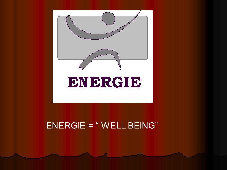ENERGIE = WELL BEING
