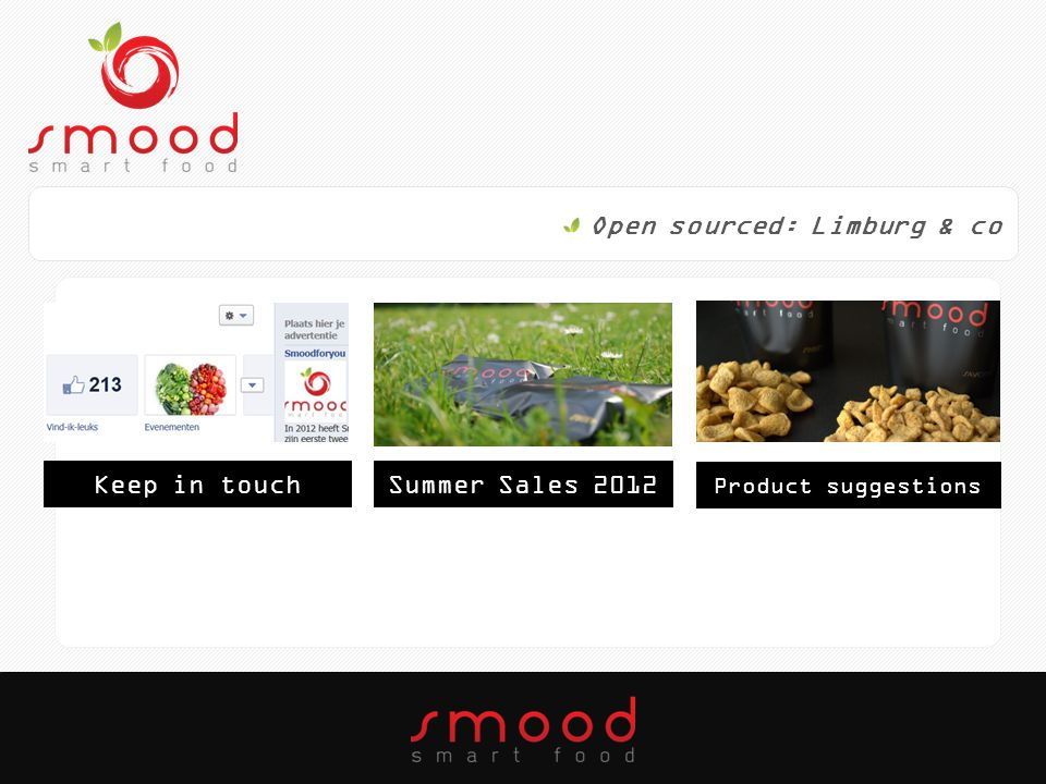 Open sourced: Limburg & co Keep in touchSummer Sales 2012 Product suggestions