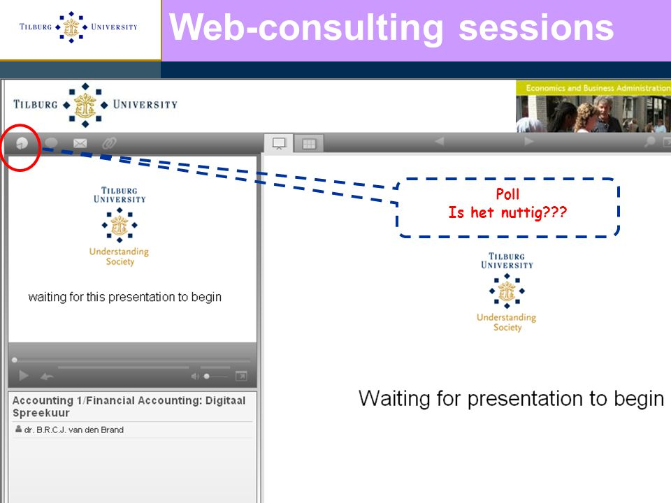 Poll Is het nuttig Web-consulting sessions
