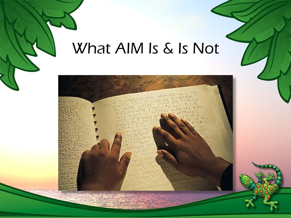 What AIM Is & Is Not