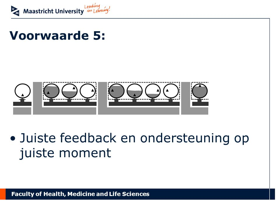 Faculty of Health, Medicine and Life Sciences Voorwaarde 5: Juiste feedback en ondersteuning op juiste moment