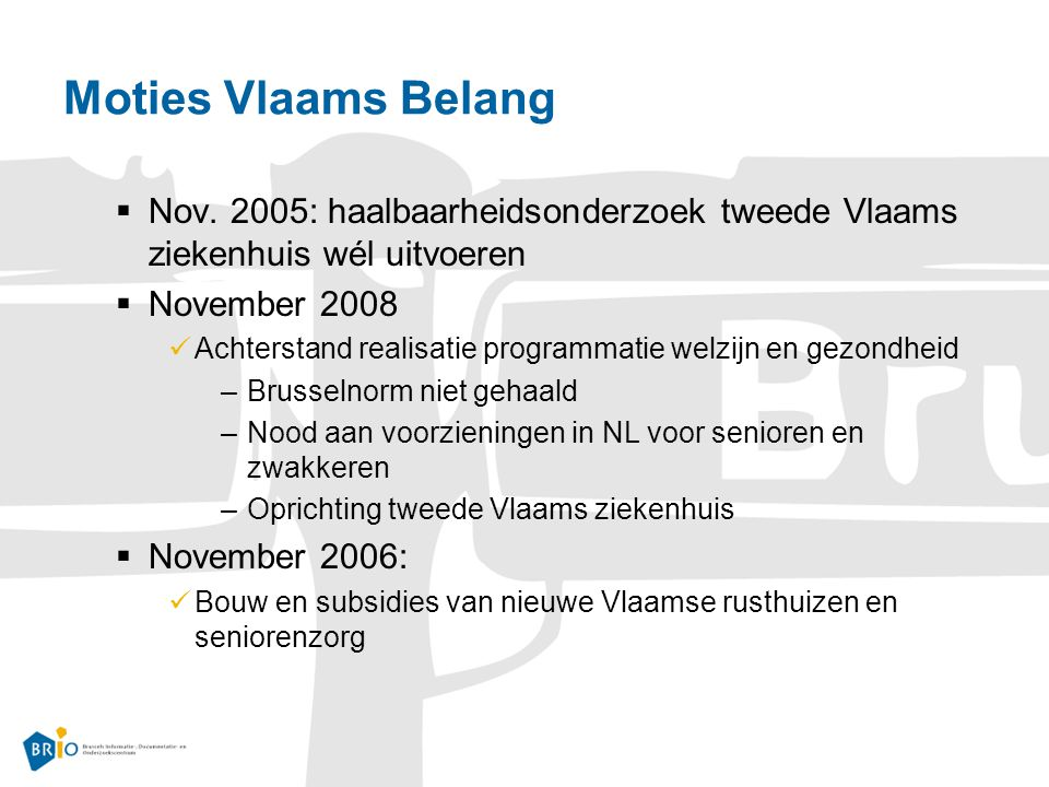 Moties Vlaams Belang  Nov.
