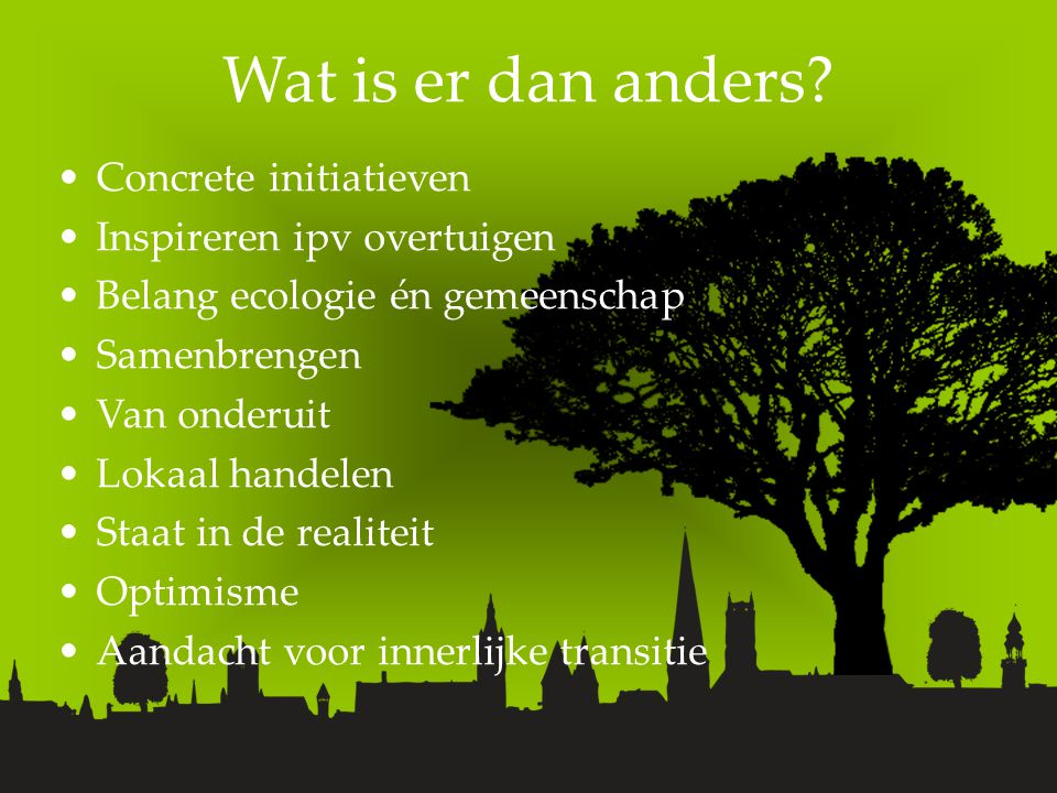 Wat is er dan anders.