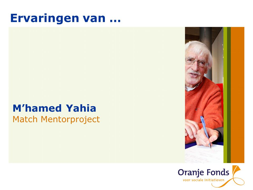 Ervaringen van … M'hamed Yahia Match Mentorproject