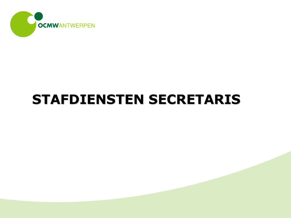 STAFDIENSTEN SECRETARIS
