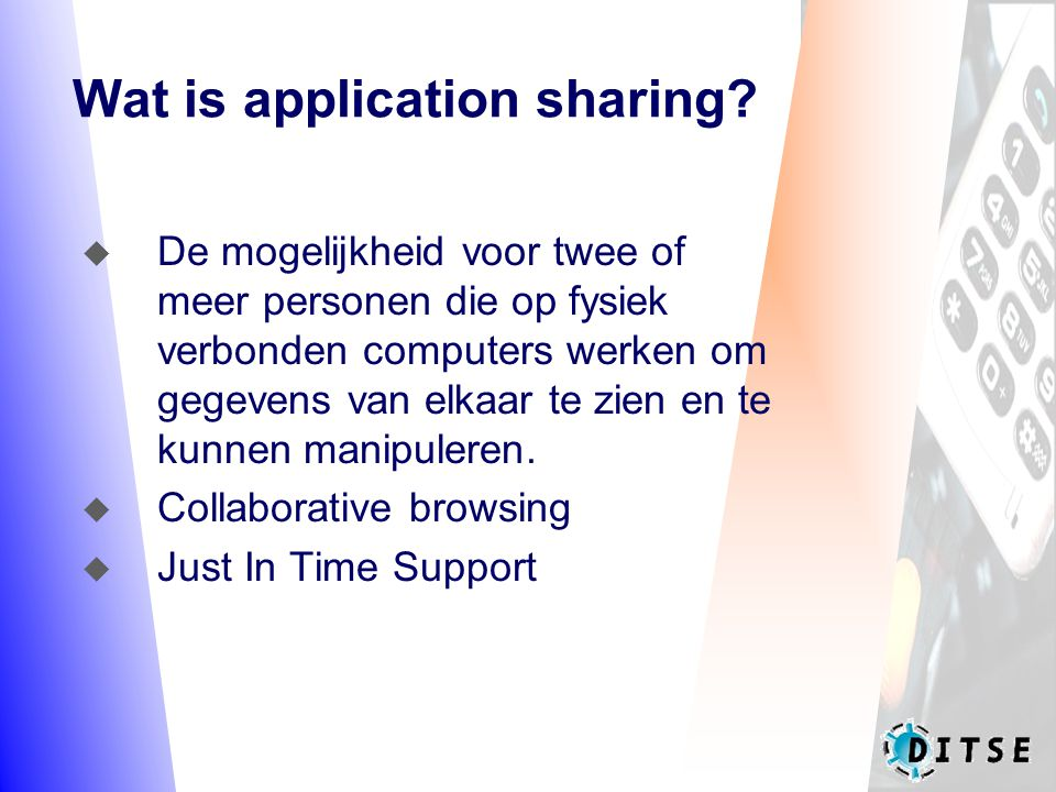 Wat is application sharing.