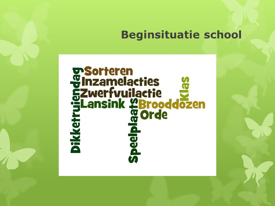 Beginsituatie school
