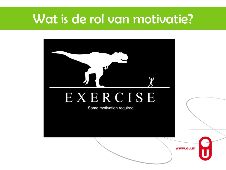 Wat is de rol van motivatie
