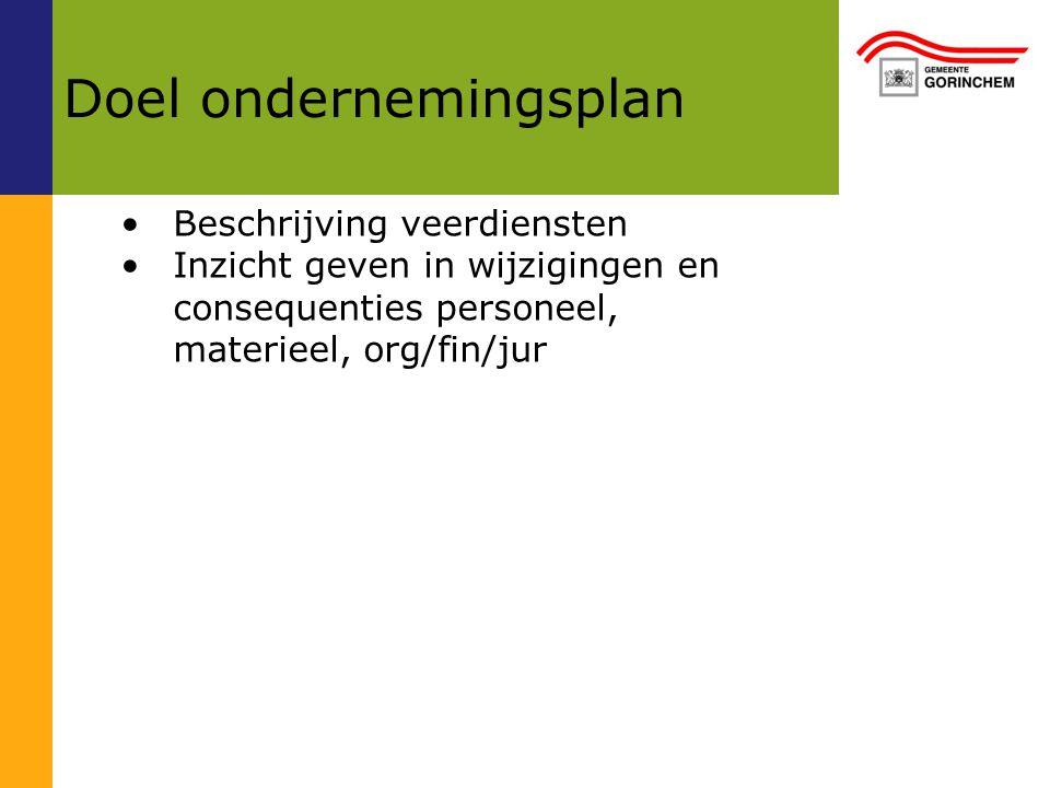 doel ondernemingsplan Ondernemingsplan gecombineerde veerdiensten Gorinchem en  doel ondernemingsplan