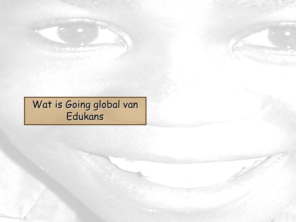 Wat is Going global van Edukans